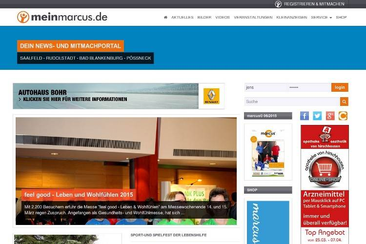 ScreenShot meinmarcus.de